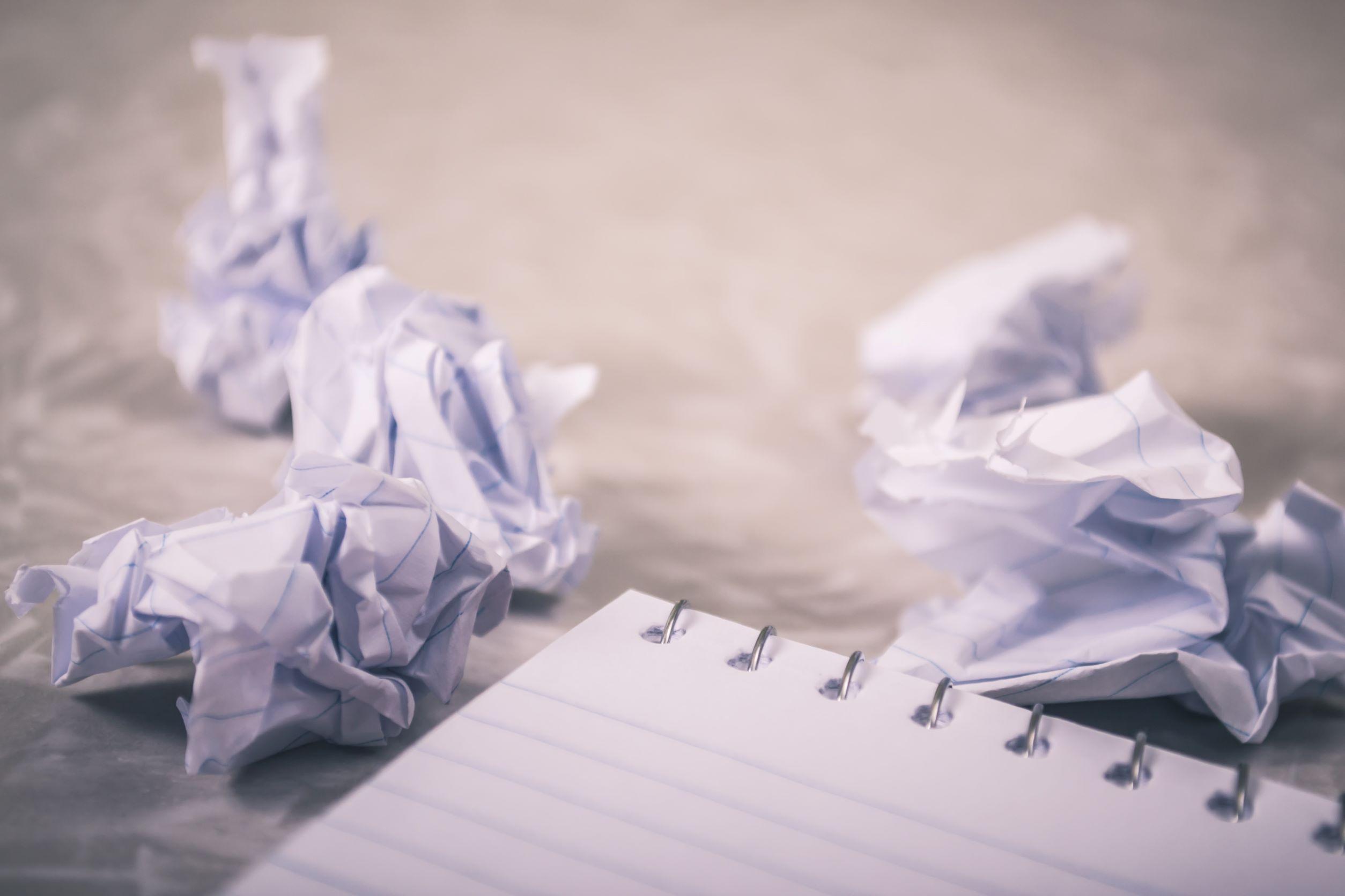 write on paper to break through writer's block
